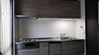新しいキッチンの組み立てが完了しました。