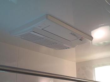 浴室暖房乾燥機も設置されました。 暑い季節の入浴は、涼風機能で涼しく快適に入浴できます。