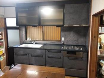 新しいキッチンが完成しました。