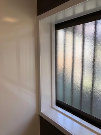 窓枠もきれいに仕上がりました。