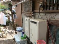 給湯器と熱源機は20年もお使いになられていました。