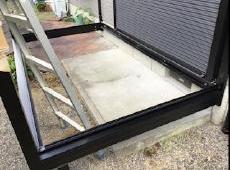 床面積も以前のテラスより大きいものにしました。