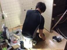 脱衣室の床も張り替えました。