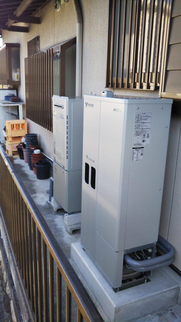 エネファームの設置が完了しました。停電時の備えにもなり、光熱費も抑えられます。